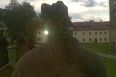 Výhled z okna na blahoslaveného Blažeje