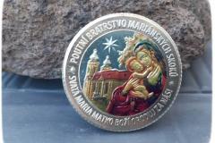 mince stříbrná - kolorovaná