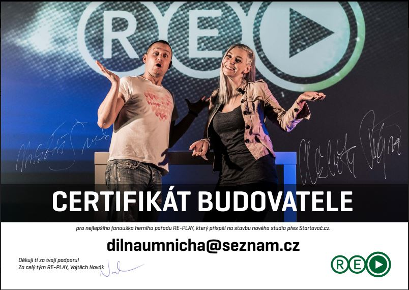 re-play certifikát